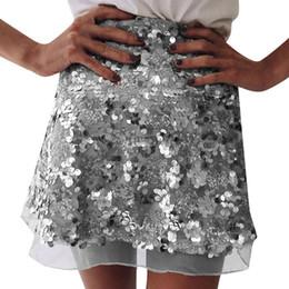 2019 pailletten-shorts für weihnachtsfeier Gold Pailletten Mesh Mini Röcke Womens Weihnachten schicke hohe Taille Rock Reißverschluss beiläufige kurze Party Strand schwarzer Rock günstig pailletten-shorts für weihnachtsfeier
