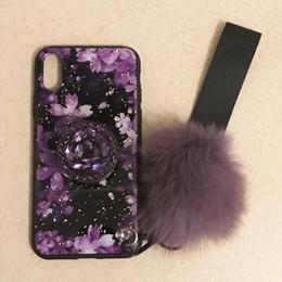 Cestor Custodia per iPhone XR Glitter Rosa Fiore Liquido Sabbie