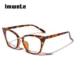 e12cb4a95a 7 Fotos Compra Online Gafas de sol-Gafas Ojo de Gato Imwete Marco Mujeres  Lentes Claras Anteojos