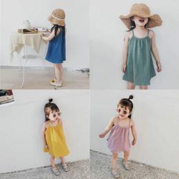 Novo estilo de bebê vestido ao ar livre crianças roupas 100% algodão meninas bonito partido saia verão sling beach vestidos de
