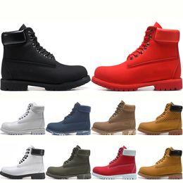 Zapatillas de deporte de tobillo para hombre online-Nuevos llegan las botas para hombre Militar Mujeres Castaño Triple Negro Blanco Camo Senderismo mujer bota del tobillo de cuero de los hombres zapatillas de deporte de invierno de arranque