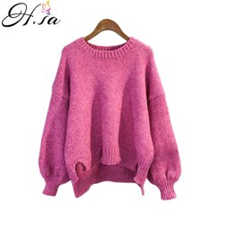 663b2da88e H.SA Women Winter Pullover and Sweaters Oneck Knitwear Korean Sweater and  PulloverIrregular sueter mujer ugly christmas sweater