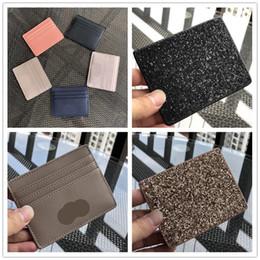 2019 carteras nuevas Diseñador KS Card Holder Glitter Bug Card Pack Nuevo estudiante Lovely Zip Coin monederos Tarjeta de crédito Glitter Wallet Brand Coin Bag HOT C52807 rebajas carteras nuevas