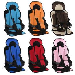 Viaggi 1-5T sicurezza del bambino cuscino del sedile Con L'infante Carrier sicuro tessuto cintura Mat Little Child da bianchi coprisedili per auto in pelle nera fornitori