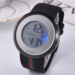 37f79b8b83d Atacado aaa marca de luxo moda relógio digital dos homens esportes cinto de borracha  relógio preto relógio militar à prova d  água vestido relógios relojes ...