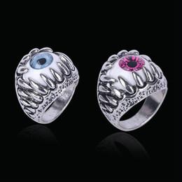 2019 joyas de garras de dedo de plata Silikolove Dragon Claw Punk Anillo de dedo para hombre Aleación de plata Ojo del diablo Accesorios de joyería de la personalidad Anelli rebajas joyas de garras de dedo de plata