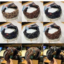 2019 mexicano headwear Promoção Mulheres Designer Headband Headwear Luxo Macio Headband De Seda Estilo Faculdade Menina Letra Headbands Moda Atada Faixa de Cabelo mexicano headwear barato
