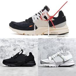 Presto Calzado para correr off Mens Sneaker Tripel Negro Blanco amarillo Womens QS zapatillas deportivas atlético Jogging Casual diseñador zapatos EU36-46 desde fabricantes