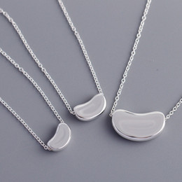 Colgante de arveja online-Diseñador de joyería de lujo de las mujeres 925 collar de plata esterlina guisante colgante mujer boda compromiso joyería en venta