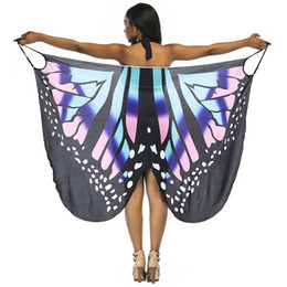 sexy butterfly bikini Promo Codes - Women Sexy Casual Dresses Spaghetti Strap Butterfly Printed Backless Beach Wrap Bikini Cover Up Dress New 2019