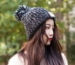 ladies running cap Coupons - Outdoor Hats autumn and winter ladies fashion wild outdoor plus velvet thick warm cute hair ball cap
