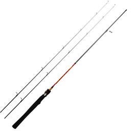 tige 1.8m Promotion 1,8 m UL canne à pêche pour la truite entière solide pointe action régulière 1-6g test ultra légère canne à pêche tournante avec 2 conseils 1-8LB