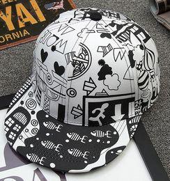 2909d3e0f27 The new trendy Korean version of the sunshade hat cartoon urban graffiti  hip-hop hat couple summer duck tongue baseball cap