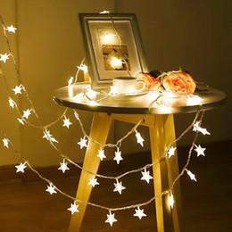 luz conduzida a pilhas da estrela Desconto 3 m 20 bola LED Estrela Luz Corda Operado Por Bateria Gypsophila Lâmpada Decorativa 20 LEDs Luzes Coloridas de Novidade para a Decoração do Quarto de Casa