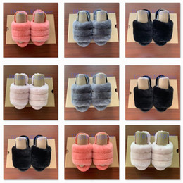 Deutschland 2020 Kids Designer Schuhe Girls Kids Fluff Yeah Slide Sandale Fur Slide Slippers Kindersandalen Furry Slippers Slipper Hausschuhe Slides supplier slipper sandals for girls Versorgung