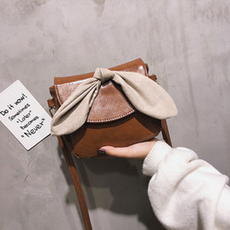 bolsos lindos arcos Rebajas Designer - Bow Crossbody Bags For Women 2019 Fashion PU Leather Cute Shoulder Bag Ladies Bolsos Pequeño Designer Hand Bag Drop Shipping
