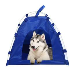 Gato oxford on-line-Dobrável portátil casa de cachorro do animal de estimação cama tenda à prova d 'água cat indoor teepee ao ar livre à prova d' água oxford cat pano e cão universal