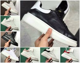 high soled shoes Coupons - High Quality 2019 Designer Shoe Fashion Luxury Women Shoes Men's Leather Lace Up Platform Oversized Sole Sneakers White Black Casual Shoes