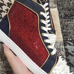 b3574312c59d Factory Sell Designer Comfort High Quality Men Women Red Bottom Sneakers  Loubitag Strass Pik Pik No Limit 18S Party Dress Wedding EU35-46