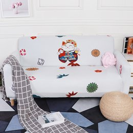 collant giapponesi Sconti Fodera per divano gatto giapponese fortunato cartoon animali modello avvolgente fodera per divano cubo elastico all-inclusive antiscivolo