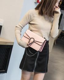 2019 blau checked bettwäsche NEU! Damentasche Version von Small Square New Bag Fashion Snake Geprägte Umhängetaschen Chain Messenger Bag