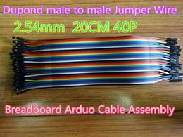 Argentina 10 unids / lote Nuevo 2.54 mm Dupond macho a macho Cable de puente 1P-1P 20 CM 40 P Color Ribboard Breadboard Arduo Asamblea en stock Envío gratis Suministro