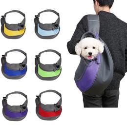 Сумка для собак онлайн-Высокое Качество Pet Carrier Dog Cat Рюкзак Портативный Дорожная Сумка Складные Сумки Передняя Сумка Сетка Голова С Стропами Плеча Открытый Поставки