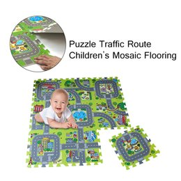 toy playmat Promo Codes - 2019 hot products Road Playmat Kids Carpet Playmat for Playing With Cars and Toys Home Textiles Cartoon Mat Nurseries Daycare
