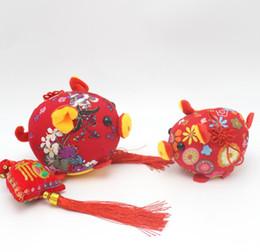 Brinquedos chineses de pelúcia on-line-Household Soft Mascot Toy Nó Chinês Flor Animal Plush Pendant Para Crianças Crianças Boneca Direta Da Fábrica Frete Grátis