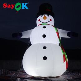 2019 saltare decorazioni Festival della decorazione di Natale gonfiabili Snowmans Saltare in aria di Natale dei giocattoli dei bambini gigante 6,5 piedi all'aperto pupazzo gonfiabile costume saltare decorazioni economici