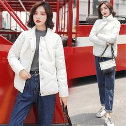 Kadınlar Kış Için yeni Ceket Bayanlar Gevşek Pamuk Genç Moda Boyun Kısa Aşağı Ceket Pamuk Parklar Kadınlar Sıcak Coat nereden