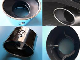 enfriamiento del tubo de calor Rebajas Para Honda Accord 2008 2009 2010 2012 TRASERO extremidad del silenciador del tubo de escape escape de acero