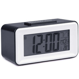 2020 minuterie de bureau led New Digital Led Réveils étudiants Horloges avec la Semaine Snooze Montre électronique Table calendrier Lcd bureau minuterie promotion minuterie de bureau led