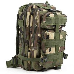 Trek green on-line-Verde Camo Militar 30L Mochila Sports Bag para Camping Caminhadas Caminhadas Trekking