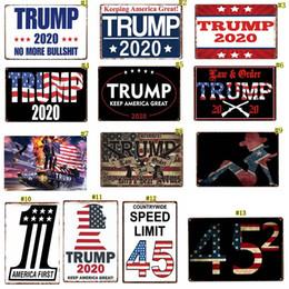 2019 royaume-uni voitures Trump 2020 Plaque En Métal 20 * 30 Cm Rétro Couleur Drapeau Américain Décoration Murale Fer Peinture Signes c0081