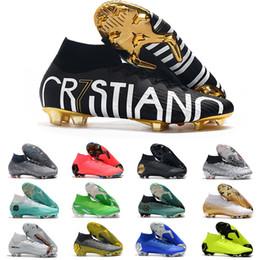 Tamanho de botas de futebol ronaldo on-line-2019 Mercurial Superfly VI 360 Elite FG KJ 6 XII 12 CR7 Ronaldo Neymar Homens Mulheres Rapazes Futebol tornozelo sapatos botas de futebol chuteiras Tamanho US3-11