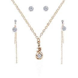 Insieme di monili della collana dell'orecchino di lusso 150sets / lot che vende i monili all'ingrosso bijoux di lusso di cristallo di rocca caldi di vendita da
