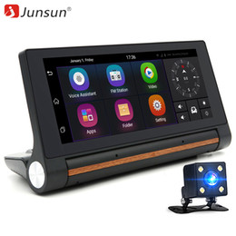 "car gps free map wifi Promo Codes - Junsun 3G car dvrs 6.86"" FHD 1080P Car GPS Navigation Android 5.0 Navigator with rear view camera WiFi 16GB sat nav free new map"