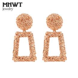 Argentina MNWT Pendientes Grandes de Época 2018 Metal Earing Colgante Joyería de Moda para las mujeres de color oro pendiente de declaración geométrica Suministro