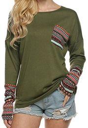 maglieria magliette Sconti Designer Donna Top maglia Casual 2019 Autunno Marca stessi di stile girocollo allentato Jacquard manica lunga elastico T Shirt Stampa Top