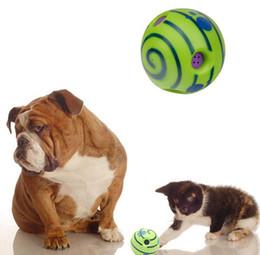 frisbee di plastica animale domestico Sconti Wobble Wag Giggle Balls With Sound Giocattoli per cani Pet Toys Mastica gli strumenti di addestramento del cucciolo