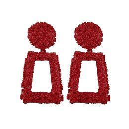 2019 orecchino maxi Designer Orecchini Gioielli in metallo 6 colori orecchini di lusso femminile Maxi filo di seta Bohemian Red Geometry Grandi orecchini per le donne gioielli regalo orecchino maxi economici