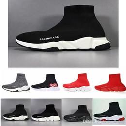 2019 merletti leggeri Balenciaga  Knit calzino del pattino originale di lusso del progettista delle donne degli uomini Sneakers Cheap High Top Quality Casual Shoes