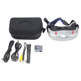 lunettes bleues pas cher Promotion Lunettes de lunettes de jumelage vidéo FPV Dual Diversity GS922 5.8G 32CH avec enregistreur vidéo numérique
