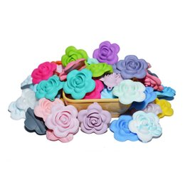Beads Able Lets Make Silicone Teething Rose Flower 3d Baby Accessories 50pc Diy Crafts Round Beads Kids Toys Baby Silicone Beads Nursing Beads & Jewelry Making