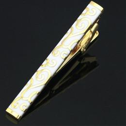 cajas de regalo Rebajas -LJ-211 Acero inoxidable Esmalte dorado Boda Metal Tie Clip Pin Broche Bar + Caja de regalo ENVÍO GRATIS Clip de corbata para hombres