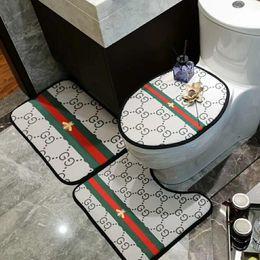 коврики для ванной Скидка INS ванная комната сиденье для унитаза из трех частей мода спальня Кристалл бархат дверь коврик толстый нескользящая ванна сиденье для унитаза подушка