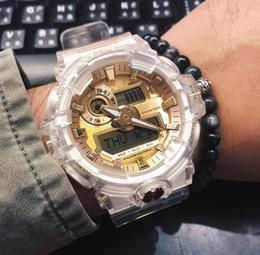 2019 relógios de quartzo solar Shock Sports Quartz Relógio Masculino Impermeável e à Prova de Choque Solar Lifeline Transparente LED Eletrônica 35 Edição de Aniversário Relógios Masculinos relógios de quartzo solar barato