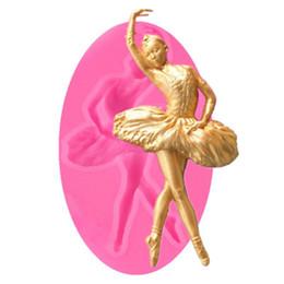 outil tranchant Promotion Mignon Belle Filles Moule En Silicone Élégant Ballet Conception Chocolat Fondant De Décoration De Gâteau Outils Cupcake Moule Cuisine Ustensiles De Cuisson