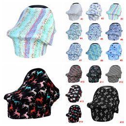 Bebé floral alimentación lactancia cubierta recién nacido niño lactancia maternidad bufanda cubierta mantón asiento de coche cochecito Canopy herramientas AAA2119 desde fabricantes